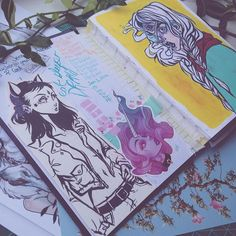 I'm so close to being done this years sketchbook. Can't wait to do a tour vid on it! 😫 I wish I'd been able to fill two this year. Maybe that'll be the goal for next year. Sketchbook Tour, Sketchbook Pages, Sketchbook Inspiration, Art Sketches, Art Drawings, Posca Art, Audra Auclair, You Draw, Copics