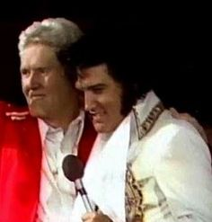 Vernon and Elvis...beautiful photo of Elvis and his dad.  This was CBS Special June 26, 1977 in Indianapolis, In.