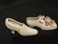 Vintage Shoes, Unmatched Pair of Shoes, Small Shoes, Made in Japan,  Two Miniature White Shoes by vintagegeeks on Etsy