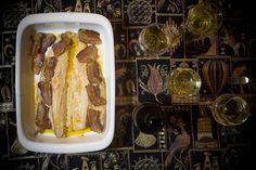 Trucha al horno con panceta adobada