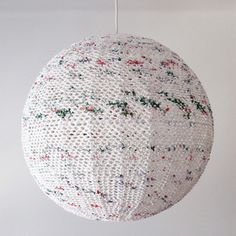 A beautiful Crochet Light handmade from up-cycled plastic shopping bags for Deep Dark Africa by a crochet artist & her team of ladies in Cape Town $278.00