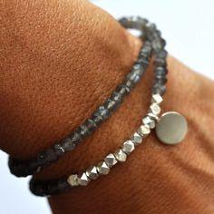 Silver Gemstone bracelet. Beaded Bracelet. by VivienFrankDesigns, $164.00