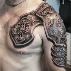 Armor Tattoo by @braddoulttattooartist armortattoo armor braddoulttattooartist