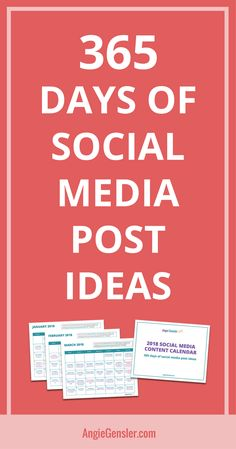 Get 365 days of content planned out. for you with the 2018 Social Media Content Calendar. Via Angie Gensler Marketing Digital, Content Marketing, Online Marketing, Social Media Marketing, Social Networks, Social Media Content, Social Media Tips, Social Media Engagement, Social Media Influencer