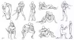 Couples - poses chart by Aomori