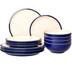 Buy Denby Cook and Dine 12 Pieces Boxed Set - Royal Blue at Argos.co.uk - Your Online Shop for Crockery, Tableware, Cooking, dining and kitchen equipment, Home and garden.