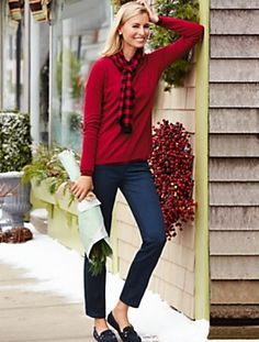 Love it all! Talbots - Slimming Heritage Midnight Wash Ankle Jeans | |