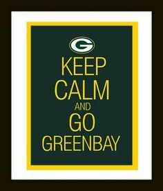 11 x 14 DIY Greenbay Packers Art Print  Keep Calm by DIGIArtPrints, $4.50