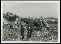 SPAZZINI IN DISCARICA a BOLOGNA Foto d Epoca Old Photo 1940 Mestieri Lavoro F300
