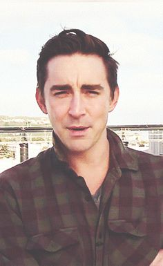 The first time we saw Lee Pace on set of The Hobbit.