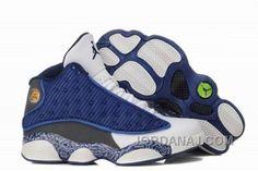 buy online 59369 e6541 Find Nike Air Jordan 13 Womens Flint Blue Grey White Shoes New online or in  Footlocker. Shop Top Brands and the latest styles Nike Air Jordan 13 Womens  ...