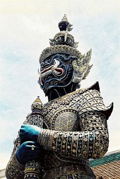 Although terrifying to look at, this statue represents good spirits and protection.