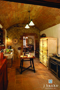 Beautiful Italian kitchen in San Regalo at #CastellodiCasole in #Tuscany #Italy