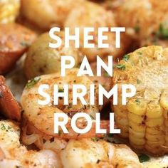 Sheet Pan Shrimp Boil - Easiest shrimp boil ever! And it's mess-free using a single sheet pan. ONE PAN. No newspapers. No bags. No clean-up! Seafood Boil Recipes, Seafood Appetizers, Seafood Dinner, Fish Recipes, Chicken Recipes, Boiled Food, Boiled Shrimp, Tasty Videos, Clean Eating Snacks