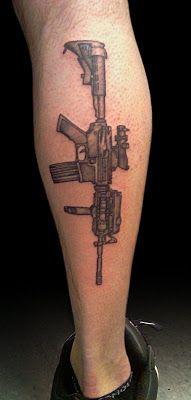 AR-15 Gun Tattoo