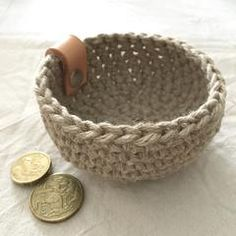 Rustic linen Mini Nest