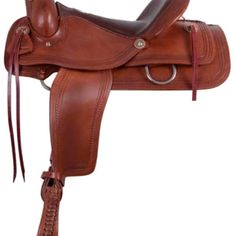 Alamo Flex Tree Chocolate Roper Border Tooled Trail Saddle 1