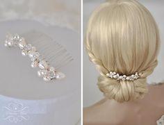Braut Haarschmuck echte Perlen Haarkamm Hochzeit S