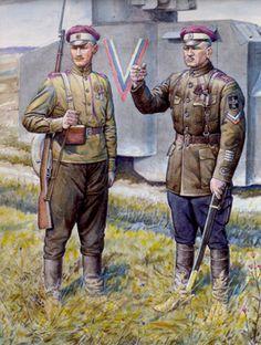 Russian Civil War. White Army. Dozdovski Regt.