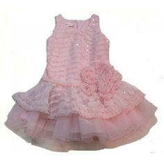 Isobella and Chloe | Drop Waist Sequin Dress - Light Pink - Angel Wings - One Good Thread
