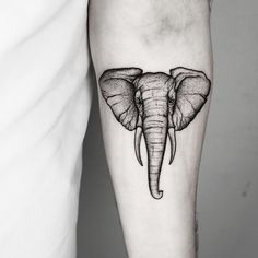 90 Magnificent Elephant Tattoo Designs Elephant Tattoo by Elephant Head Tattoo, Geometric Elephant Tattoo, Elephant Tattoo Design, Elephant Design, Simple Elephant Tattoo, Elephant Tattoo Meaning, Line Art Tattoos, Head Tattoos, Body Art Tattoos