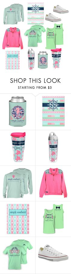 """""""Simply southern!!"""" by sophie2341 ❤ liked on Polyvore featuring mode, Tervis et Converse"""