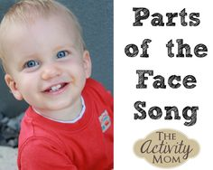 Parts of the Face Song Toddler LOVE