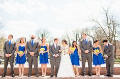Blue + Yellow + Gray Bridal Party