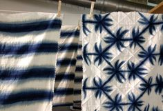With a series of serene images, Los Angeles artist Britt Browne tells us in her own words what indigo and the art of natural textile dyeing means to her. Mood Indigo, Indigo Dye, Shibori Tie Dye, How To Dye Fabric, Fabric Art, Textiles, Textile Design, Printing On Fabric, Japanese Bags