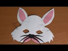 Handicraft rabbit mask, carnaval costumes for kids