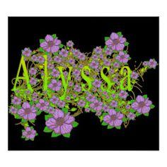 La lavande florale d'Alyssa fleurit l'or jaune Poster