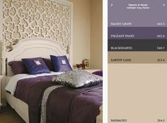 TAPESTRY & MOSAIC Harmony Color I am using this color palette in my bedroom, walk in closet and ensuite bath. Beige Paint Colors, Paint Color Palettes, Midnight Song, Trending Paint Colors, Your Paintings, Paint Ideas, Color Trends, Color Inspiration, Color Schemes