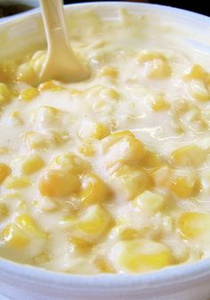 Pinning for my Dad. I hate creamed corn! Pinner said: Homemade Cream Corn is the MOST REQUESTED side dish of family dinners! It's heavenly, fattening, and even more heavenly. You WILL want seconds! Thanksgiving Recipes, Holiday Recipes, Great Recipes, Favorite Recipes, Corn Thanksgiving, Side Dish Recipes, Vegetable Recipes, Homemade Cream Corn, Cream Of Corn
