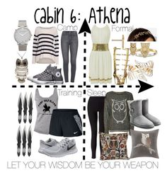 """Cabin 6: Athena"" by aquatic-angel ❤ liked on Polyvore featuring Urban Outfitters, Giuseppe Zanotti, Anna Beck, Velvet by Graham & Spencer, Paige Denim, Converse, Larsson & Jennings, NIKE, Miss Selfridge and WearAll"
