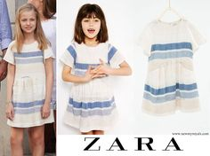 ZARA Kids Striped flounce dress