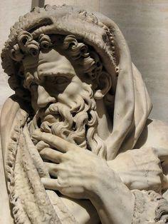 amazingly sculpted folds/drape: Roman sculpture, Louvre