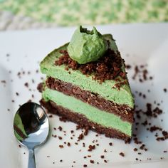 No-Bake Mint-Avocado Chocolate Layer Cake