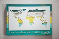Bring the world to your wall, stylishly. Made from upcycled wood. Pallet Boards, Pallet Wood, Wood Pallets, Pallet Ideas, Woodworking Projects Diy, Wood Projects, Wood World Map, Job Security, Support Local