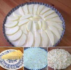Obrázek z Recept - Výborný a hlavně jednoduchý jogurtový koláč s hruškami Camembert Cheese, Dairy, Pie, Pinkie Pie, Fruit Flan, Pies, Tart, Cake