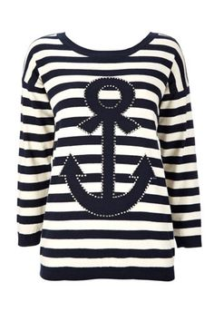 anchor stripe jumper / wallis  Visit:  http://fashionartist.org/  Like share and repin :)