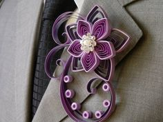 Purple Groom Boutonniere Purple Best Man Groomsmen by LoveAccented