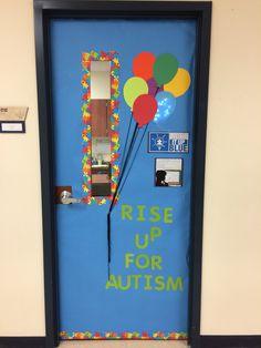 My Classroom Door For Autism Awareness Month I Put My