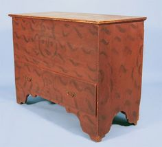 Paint decorated blanket chest.