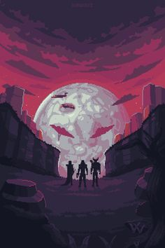 Dead moon / Patreon #pixelart