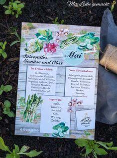 Saisonkalender Mai – frisches, heimisches Obst und Gemüse Gratis Download, Kraut, Mai, Diy Projects, Lettuce, Chinese Cabbage, Purple Cabbage, Carrots, Strawberries