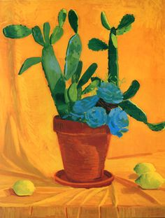 "David Hockney ""Cactus with Lemons"" 1996"