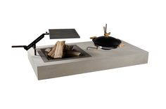 Griller  - Concreto Floating Nightstand, Concrete, Outdoor, Table, Design, Furniture, Home Decor, Products, Floating Headboard