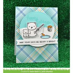 RESERVE Lawn Fawn SET LF17SETBH BEARY HAPPY HOLIDAYS Clear Stamps and Dies Preview Image