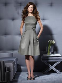 Dessy Bridesmaid Style 2780 in Charcoal Grey