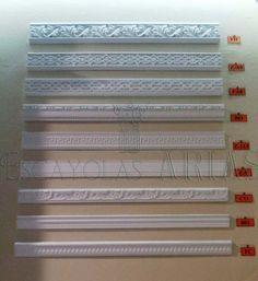 Cornisas de escayola ornamentadas serie gaud modelo - Molduras de escayola modernas ...
